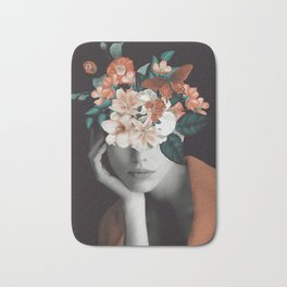 WOMAN WITH FLOWERS 7 Bath Mat