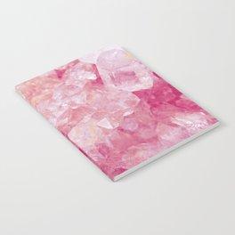 Pink Rose Quartz Crystal Notebook