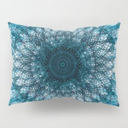Blue Mandala Pillow Sham