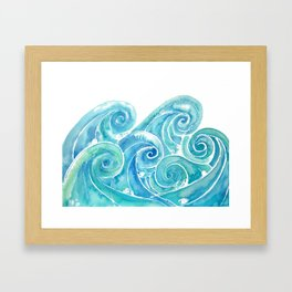 Watercolor Waves Framed Art Print