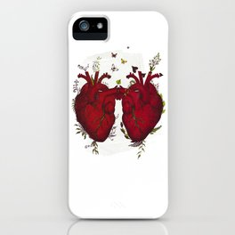 two hearts beating as one iPhone Case