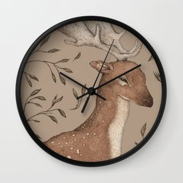 The Fallow Deer and Oats Wall Clock