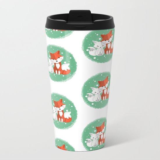 Foxy friends Metal Travel Mug