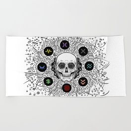 Side Effects Inverted Cover Art Beach Towel