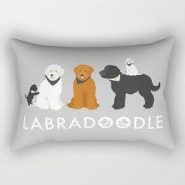 Labradoodle family Rectangular Pillow