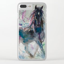 Salt River Wild Horse Clear iPhone Case