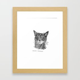 Hunter the Kitty in RobynTangle Framed Art Print