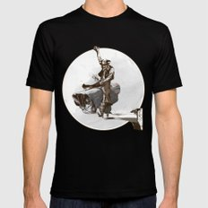 Media Rodeo: Big Brother is watching you SMALL Mens Fitted Tee Black