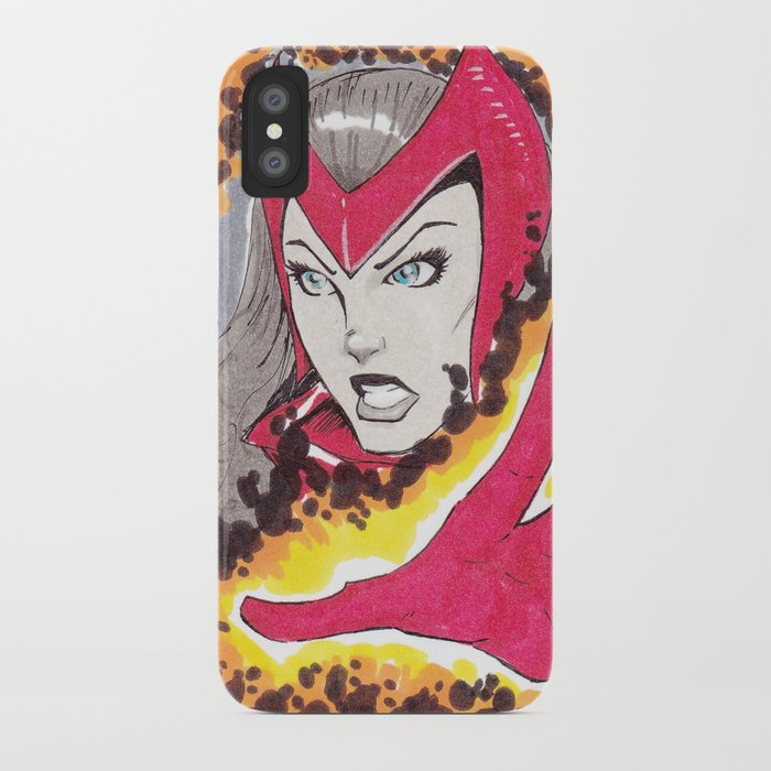 buy popular ff4f9 c0e50 Scarlet Witch iPhone Case by matthewsuttonart