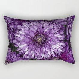 Purple Mums Rectangular Pillow