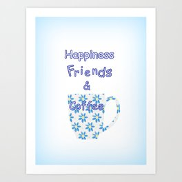 Friends And Coffee Art Print