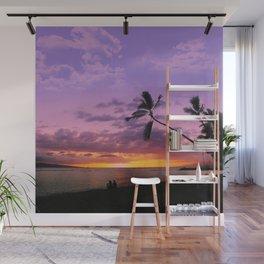 Tropical Sunset Wall Mural