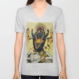Hindu Kali 18 Unisex V-Neck