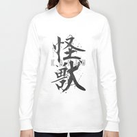 kaiju Long Sleeve T-shirts featuring KAIJU by Mikio Murakami