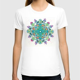 Turquoise dream Mandala  T-shirt