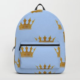 Louis Blue Gold Crown Prince of Cambridge Backpack