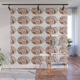 Chocolate Cream Donuts with Extra Vanilla Wall Mural
