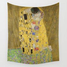 The Kiss - Gustav Klimt Wall Tapestry