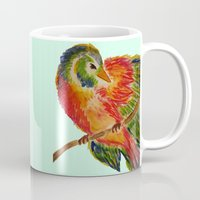 birdy Mugs featuring Birdy by LaurenMarie94