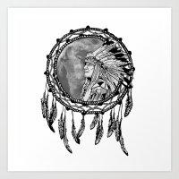 dream catcher Art Prints featuring Dream Catcher by Astrablink7