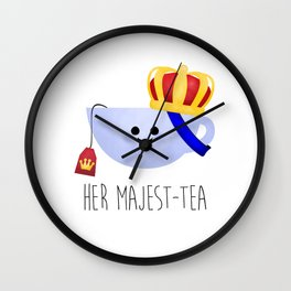 Her Majest-tea Wall Clock