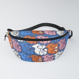 retro squirrels- pattern Fanny Pack