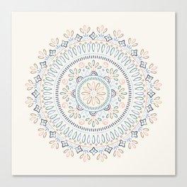 Jardin Mandala - Cornflower Canvas Print