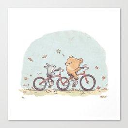Brommel & Dee - Tandem Bike Ride Canvas Print