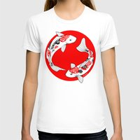 japanese T-shirts featuring Japanese Kois by Art & Be