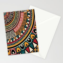 African Tribal Pattern No. 115 Stationery Cards