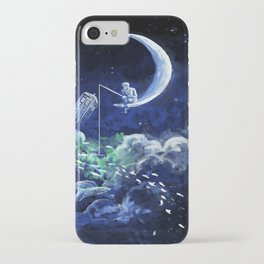 The Doctor Dreaming Of Fishing iPhone Case