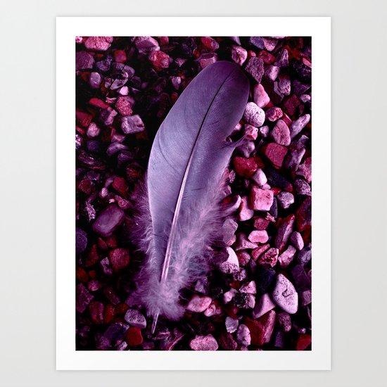 purple feather macro XXI Art Print