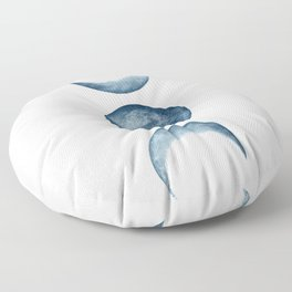 Blue Moon Phases Watercolor Floor Pillow