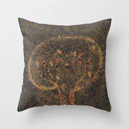 Smelly tree Throw Pillow