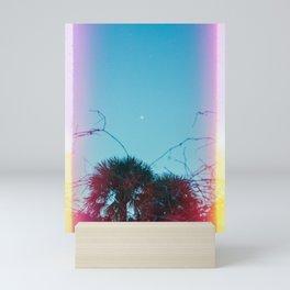 Pastel Moon in Savannah, Georgia - 35 mm light leaked film photograph Mini Art Print