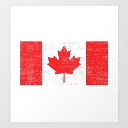Canada flag , Vintage Canadian Flag  Art Print