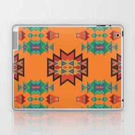 Misc shapes on an orange background Laptop & iPad Skin