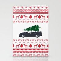 subaru Stationery Cards featuring Happy Holidays - Subaru Christmas Sweater by E. Phillips - Creative Designer