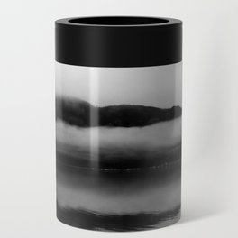 Black and White Alaska Photography, Enchanted Isle Can Cooler