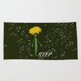 Dandeliono Character poster (STEP) Beach Towel