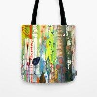 la Tote Bags featuring la traverse by sylvie demers