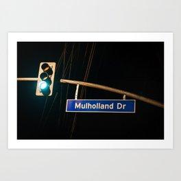 Mulholland Drive Art Print
