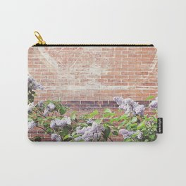 Vintage Advertisement and Lilacs Carry-All Pouch