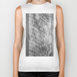 vintage wood texture background in black and white Biker Tank