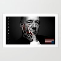 frank underwood Art Prints featuring frank underwood. by azyxz