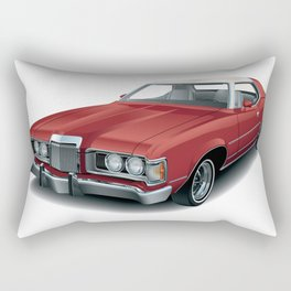 1970's Personal Luxury Coupe Rectangular Pillow
