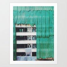 Bamboo Scaffolding Hong Kong Art Print