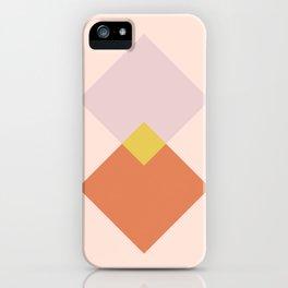 Vintage Geometric Diamonds - Tulip iPhone Case