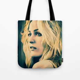 Gillian Anderson in oil olors Tote Bag