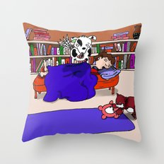 Let Sleeping Boys Lie Throw Pillow